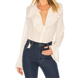 NWOT Paige Silvette 100% Silk Blouse size Small